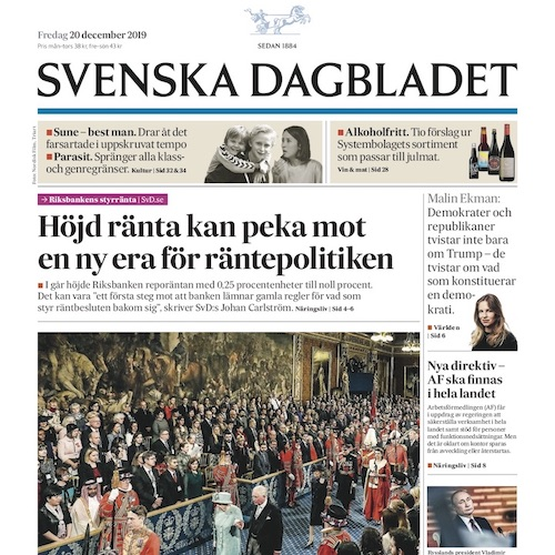SVD front page
